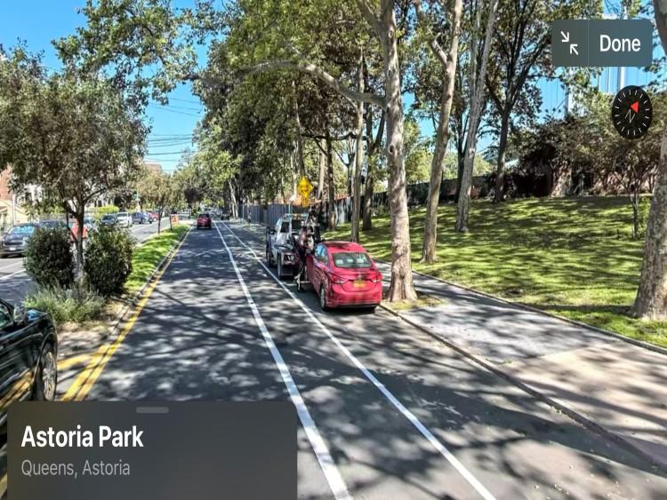Astoria park south road test location